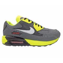 Tênis Nike Air Max 90 Preto E Verde Limão