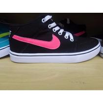 Tênis Nike Air Force Sneakers Botinha Feminino Preta Rosa