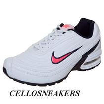 Tenis Nike Air Feather High 38 Rosa Botinha Couro Air Max Sb