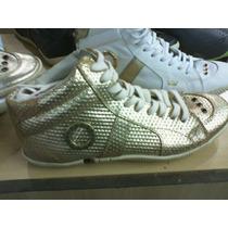 Tenis (bota) Osklen Dourado Nº35 Ao 38 Original Novo