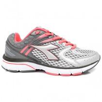 Tênis Diadora Feminino Running 125115 Cinza/rosa