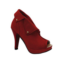 Ankle Boot Detalhe Com Tachas (vermelho)