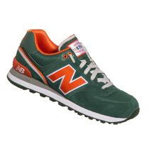 Tênis New Balance Em Couro Ml574 Verde