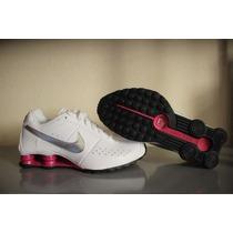Tenis Nike Shox Classic Ii Feminino Branco/rosa - Original