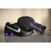 Tenis Nike Shox Classic Ii Feminino Preto/roxo - Original