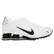 Tênis Nike Shox R4 Cromado Branco E Preto Tamanho 42