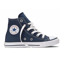 Tenis Converse All Star Cano Medio Lona - Azul Escuro