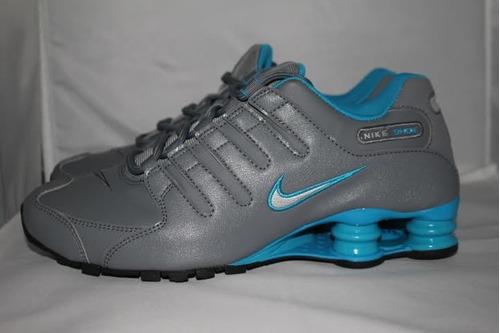 ... low price nike shox nz cinza e azul 18c7c 13910 buy tenis ... b8cdc52e3