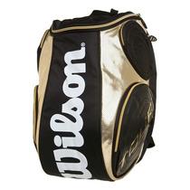 Mochila Wilson Tour Large Back Pack(preto Com Dourado)