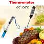 Termômetro Digital Culinário Tipo Espeto Lcd -50°c A 300°c