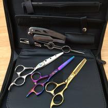 Kit3tesoura Profissional Fionavalha+dentada+laser+luxo Caixa