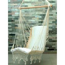 Rede Cadeira Balanço De Teto Tecido Algodão Cru Natural
