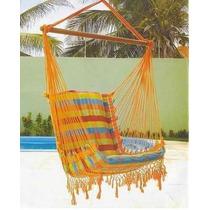 Rede Cadeira Balanço E Descanso - Grátis Suporte Madeira