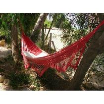 Rede De Dormir Descanso Casal Vermelha 1 Com Frete Grátis