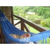 Rede De Dormir Descanso Casal Azul Indigo 3 Com Frete Grátis