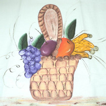 Pano Prato Cesta E Frutas Com Croche - Pp032