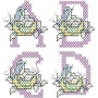 Alfabeto Bird Ponto Cruz - 26 Matrizes De Bordados Via Email