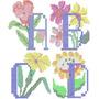 Alfabeto Floral - Ponto Cruz - 52 Matrizes De Bordados Comp.