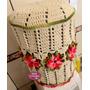 Capa De Crochê Para Galão De Água Com Flores! Frete Grátis!!