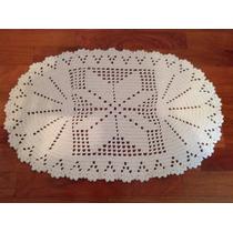 Tapete Oval Leque 50x75cm Barbante100%algodão