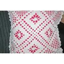 Capa De Almofada Em Crochê De Barbante Feito A Mão