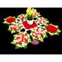 Caminho De Mesa De Crochê Flores Vermelhas Pronta Entrega
