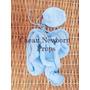 Wrap Touca Newborn ( Azul Bebê) Tricô Crochê Bebê