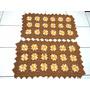 Jogo De Tapetes Para Cozinha Em Crochê Barbante