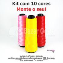 Kit C/10 Linhas Fio Inconfio Princesinha Moda - Tricô/crochê