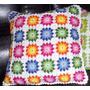 Capa Para Almofada De Crochê Com Flores