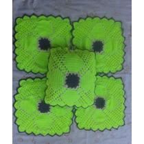 Capas De Almofadas Decorativas Feitas Em Barbante 5 Peças