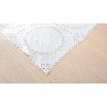 Trilho Caminho De Mesa Plastico Imitando Crochê 50cm X 140cm