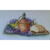 Toalha Fogão Pano Prato Pintado Mão Bico Crochê Chá Alimento
