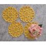 Conjunto Toalhinha Em Crochê - 4 Peças - Amarelo