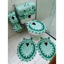 Jogo De Banheiro Em Barbante 5 Peças Muito Lindo