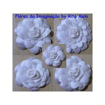 Flores Tecido 5cm Artesanato Lembrancinha Scrapbook (1un)