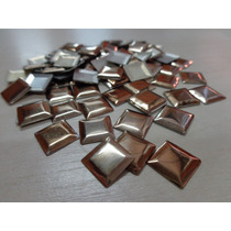 Pacote De Strass Hotfix Metal Liso 10mmx10mm