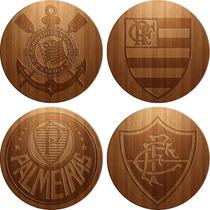 Placas Decorativas Time De Futebol - Efeito Entalhe 3d