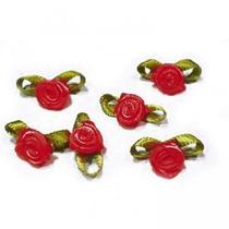 500 Rococós Pequeno - Lembrancinhas Laço Fita Cetim Rosinhas