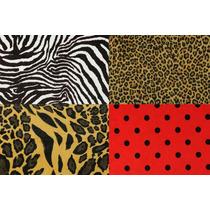 Tecido De Pelúcia Estampa De Animais Oncinha Zebra Tigre