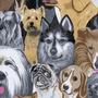 Tecido Corino. Korino Estampa Dog`s ,para-sofas,puff,capas
