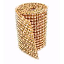 Manta Strass Cristal Alto Brilho 45cmx10cm - Menor Preço