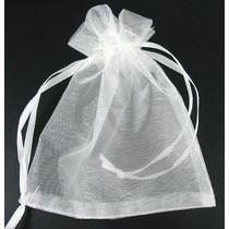 50 Saquinhos De Organza 7x9 Cm - Branco * Menor Preço *