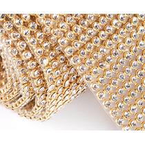 Manta Strass Cristal Alto Brilho 10x45cm * Preço Imbatível!