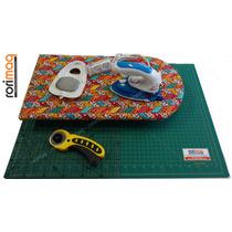 Kit Patchwork C/ Base De Corte,régua,cortador,ferro,tábua #3