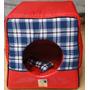 Cama Casa Toca Iglu Cachorro Gato Bolita Pet G Vermelha