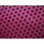 Tnt Poá - Estampado Rosa Pink C/ Bolinhas Pretas - 5 Metros