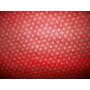 Tnt Poá - Estampado Vermelho C/ Bolinhas Douradas- 10 Metros