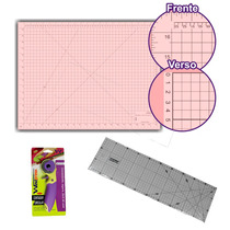 Kit Patchwork 1 Base 90x60 1 Cortador 45mm Regua 15x60