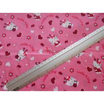 Tecido Infantil Hello Kitty Importado - 60 Cm X 1,10 M